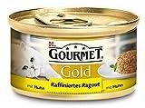 Gourmet Gold Raffiniertes Ragout Huhn, 12er Pack (12 x 85 g) Dosen