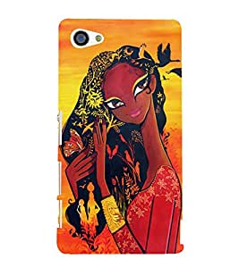 Village Girl 3D Hard Polycarbonate Designer Back Case Cover for Sony Xperia Z5 Compact :: Sony Xperia Z5 Mini