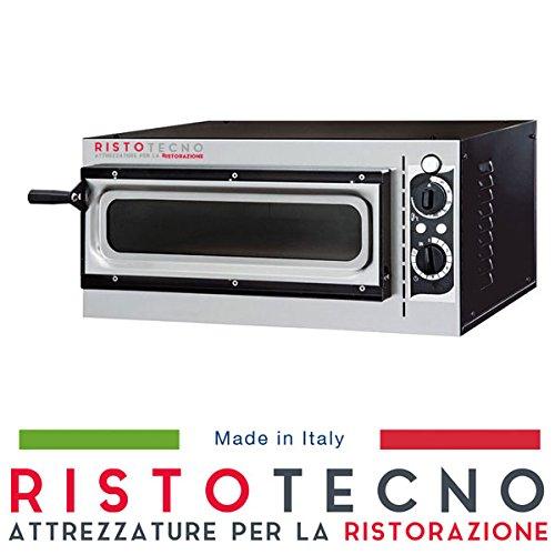 Forno pizza elettrico professionale 1 camera. capacità 1 pizza Ø 32 cm. kw. 1.6 - porta vetro