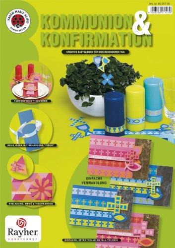 Rayher - Set Konfirmation / Kommunion, SB-Btl., Inhalt: 1 Broschüre + 1 Schablone