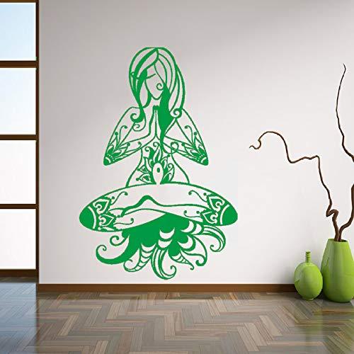 Zaosan Hauptdekoration Meditation Frau Yoga Buddhismus Abnehmbare Vinyl Wandaufkleber Schlafzimmer