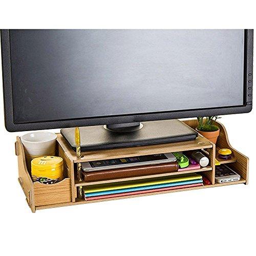 DIY Holz Computer monitor ständer Riser höhenverstellbar Bildschirmständer Desktop Organizer Ständer (Unterricht Liefern)
