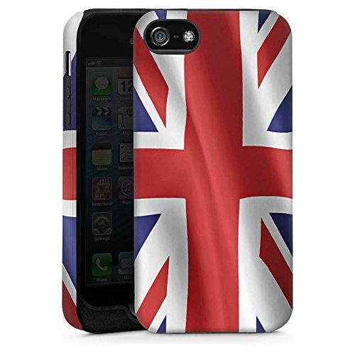 Apple iPhone 5s Housse étui coque protection Angleterre Drapeau Grande-Bretagne Cas Tough brillant