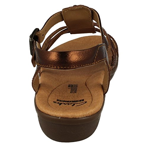 Clarks - Manilla Bonita, Sandali Donna Bronze leather
