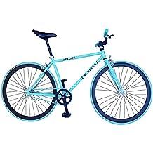 Helliot Bikes Fixie Tribeca H27 - Bicicleta urbana, color azul / turquesa, talla única
