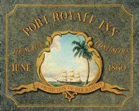 Feeling-at-home-Kunstdruck-Port-Royale-Inn-cm93x116-Poster-fuer-Rahmen -