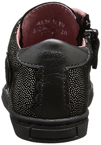 Aster Risette, Chaussures Premiers pas bébé fille Noir (8)
