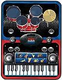 24 Tastatur Klavier Elektronik Musik Spielmatte 2 in 1 Musik Spielmatte, 10 zuerst Demonstration Externer MP3 Spielen, Beschreibbar Klavier Spielmatte