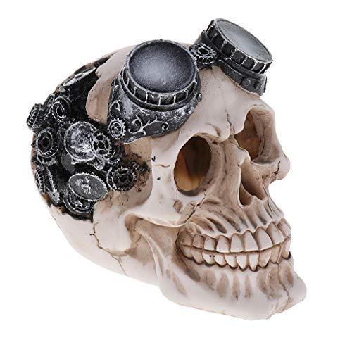 B Blesiya Crâne Décor pour Aquarium Accessoires Ornement - 2