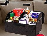 anzer Auto Aufbewahrung Organizer Box, Kofferraum Organizer, Luxus Faltbar Aufbewahrungsbox, faltbar PU Leder.