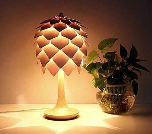 DLUF E14 Pine Lampada da tavolo stile semplice e moderno