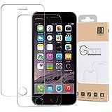 HIPPOX Protector Pantalla iPhone 6s Protector Pantalla iPhone 6 Grosor 0.2mm Protector de Pantalla de Vidrio Templado para iPhone 6 / 6S Una Cobertura del 100% [Garantía de por Vida] 2 Packs