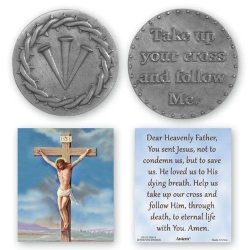 Nägel Der Kreuz Crown of Thorns Pocket Token mit Gebet Karte