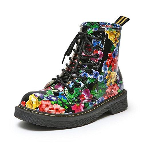 Stivali plus cashmere stivali caldo cotone pizzo stivali scarpe donna retrò floreale stivali di Martin Snow Boots Floral