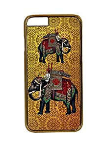 Desi Pop Trendy Gold Sides Iphone 6 Covers (I6-GajBeigeGold)