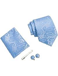 Uomo Paisley cravatta, fazzoletto, stickpins e gemelli pacco regalo