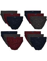 12 o 6 Sportslip barato para hombres con y sin intervención en algodón suave y cómodo en los clásicos y más colores…