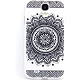 Galaxy S4 Mini Coque, JIAXIUFEN Cuir Coque Strass Case Etui Coque �tui de portefeuille protection Coque Case Cas Cuir Pour SAMSUNG GALAXY S4 Mini i9190 - Henna Full Mandala Floral Dream Catcher Black
