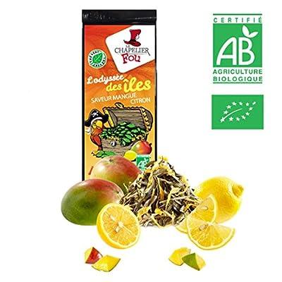 Thé vert citron mangue bio – Sachet 100g vrac – ? Certifié Agriculture biologique ?