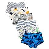 Kidear Serie Für Kinder Weiche Baumwollene Unterwäsche Sortierte Boxershorts Kleiner Jungen (Packung mit 6 Stücken) (Stil1, 2-3 Jahre)