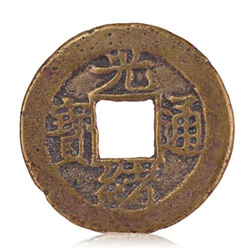 ZGZHIZ Alte chinesische Antike Münzen in der Qing-Dynastie Hoch Antike Kupfermünzen Bronzeplatten-Tongbao-Baozhan Amulett auszutreiben Böse Geister Money Drawing Reichtum Vermögen