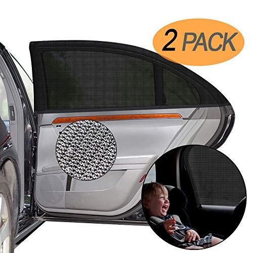 DYFFLE Sonnenschutz Auto Baby mit UV Schutz (2 Stück) - Sonnenschutz Autofenster, Windowsox für Kinder, Hochwertiges Auto Accessoires, Sonnenschutz Kinder, Auto Sonnenschutz Baby, Blockt 98% Der UV