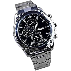 Wrist Watches, Rcool Atmospheric Men Business Stainless Steel Band Machinery Sport Quartz Watch