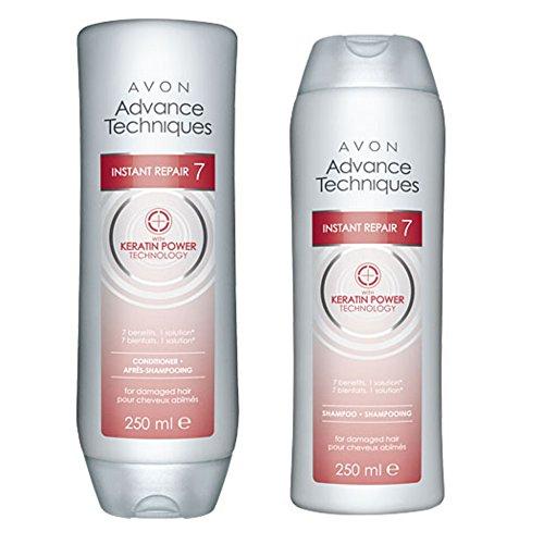 Avon Advance Techniques immediata riparazione 7balsamo 250ml & 250ml shampoo con cheratina Power Technology 250ml