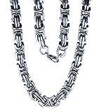 Kiss of Leather schwere Königskette aus Edelstahl, 9 mm dick, 60 – 70 cm lang (70)
