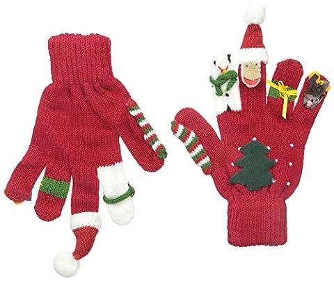 Kidorable Original Gebrandmarkt Weihnachten Handschuhe für Mädchen, Jungen, Kinder - groß