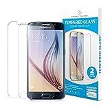 Samsung Galaxy S6 Panzerglas (2 Stück) - Schutzglas Japanische 9H Tempered HD Schutzfolie, Displayschutzfolie Glas, Screen Protector Hartglas, Panzerglasfolie, Handy Glasfolie, Panzerfolie