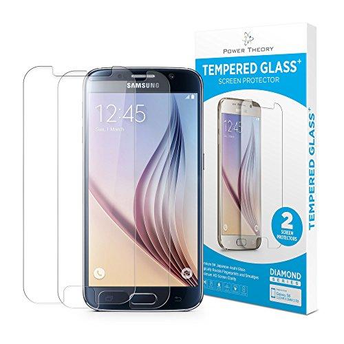 Samsung Galaxy S6 Panzerglas (2 Stück) - Schutzglas Japanische 9H Tempered HD Schutzfolie, Bildschirmschutzfolie Glas, Screen Protector Hartglas, Panzerglasfolie, Handy Glasfolie, Panzerfolie