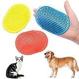 JAYLONG 3 Pcs Hundesalon Pinsel Einstellbare Dusche & Bad Reinigung Haar & Massage Haut Gummihandschuh Für Hunde Oder Katzen 3 Farben
