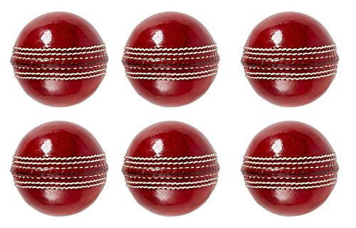 37d533425bc S K Sports Quality 4 Piece Plain Red Leather Ball(Pack of 6) Online ...