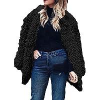 Yvelands Moda Mujer Sexy Invierno Cálido Faux Fur Manga Larga Chaqueta sólida Tops Abrigo Outwear