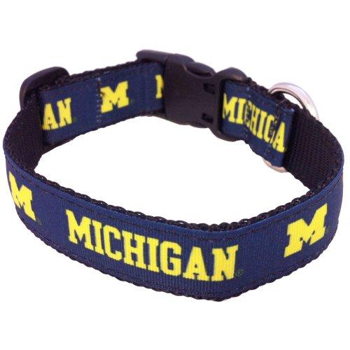 All Star Dogs NCAA Michigan Wolverines Collegiate Hundehalsband, Größe M -