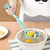 Queta Colander - Cuchara de plástico Multifuncional, Mango Largo, Cuchara colador, Cuchara para cocinar, Color al Azar