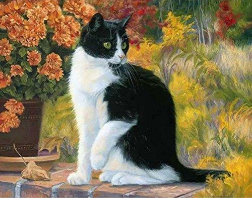 Katze Tiere DIY Malen nach Zahlen Acryl Wall Art Bild Leinwand Malerei Home Decor Einzigartiges Geschenk Artwork unframed Cat Animals