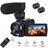 Camcorder Video Camera, Aabeloy Digital Camera with Microphone 1080P 30FPS 24MP 16X Digital
