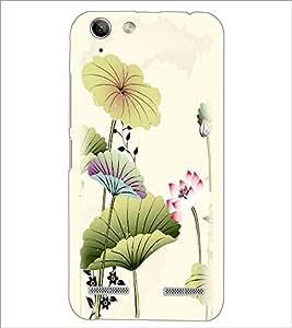 PrintDhaba Floral Design D-2026 Back Case Cover for LENOVO A6020a46 (Multi-Coloured)