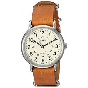 Timex T2P492 – Reloj de Cuarzo Unisex, Correa de Cuarzo, Color Beige