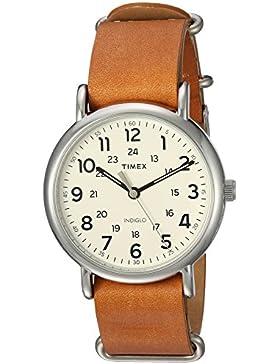Timex Unisex-Armbanduhr Analog Quarz Leder T2P492