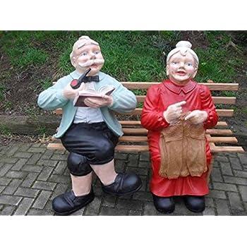 Oma Und Opa Auf Der Bank Lebensgroß Lebensgroße Menschen Om002