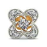 Belle Diamante 18KT Yellow Gold and Diamond Nose Pin at amazon