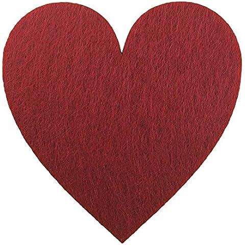 Petra S News a hef2609–28fai da 10x cuore simmetrico, 90mm, feltro/rosso