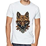 Casotec Wolf Custom Printed Designer Polyester Sports Round Neck T-Shirt Amazon