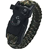 New New Survival Flint Fire Starter Paracord Whistle Gear Buckle Camping Ignition Equipment,Rescue