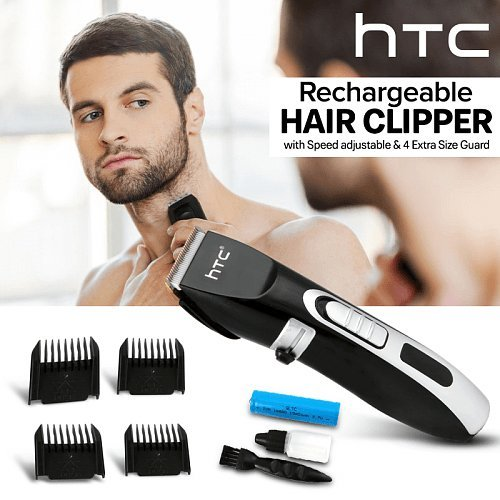 Digital Display Rechargeable Hair Trimmer 0.8 - 2 mm with Speed adjustable & 4 Extra Size Guard, (739)| removable battery