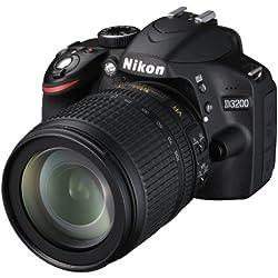 Nikon D3200 Appareil photo numérique Réflex 24,2 Mpix Kit Boîtier + Objectif AF-S DX18-105 Mm VR Noir