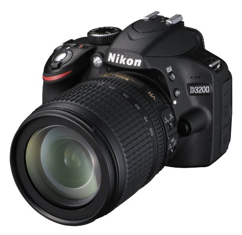 dslr wlan Nikon D3200 SLR-Digitalkamera (24 Megapixel, 7,4 cm (2,9 Zoll) Display, Live View, Full-HD) Kit inkl. AF-S DX 18-105 VR Objektiv schwarz